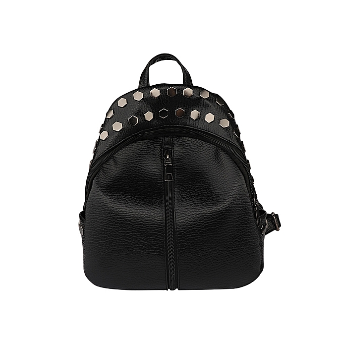 Fashion Small femmes Backpacks Rivet Zipper Student Backpack Preppy Fashion Bag à prix pas cher