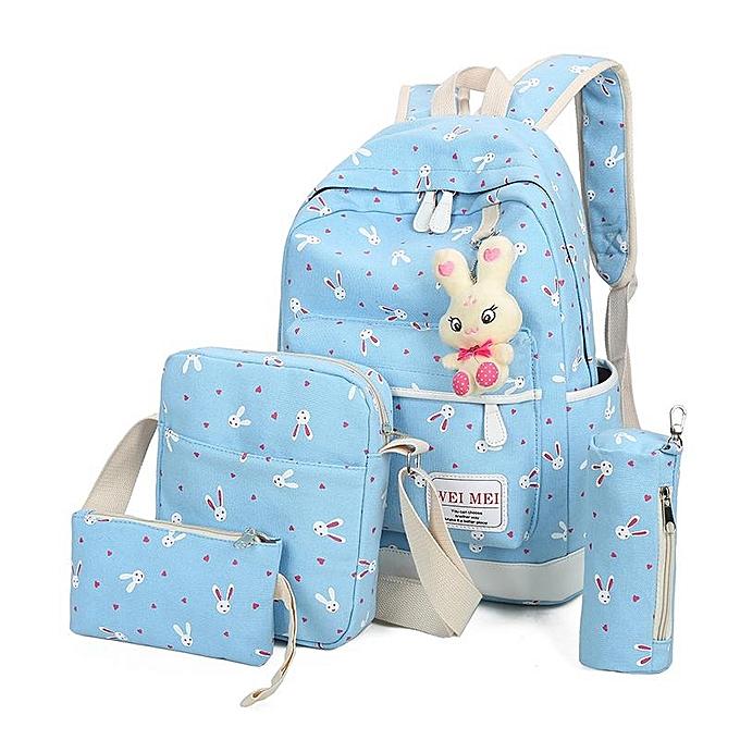 UNIVERSAL 2017 spring new small fresh four sets of small rabbit Backpack  light bleu à prix pas cher