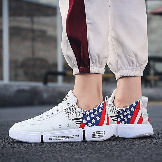 Other Men's New Fashion Leisure Board Breathable leather baskets Star Sports chaussures-blanc à prix pas cher