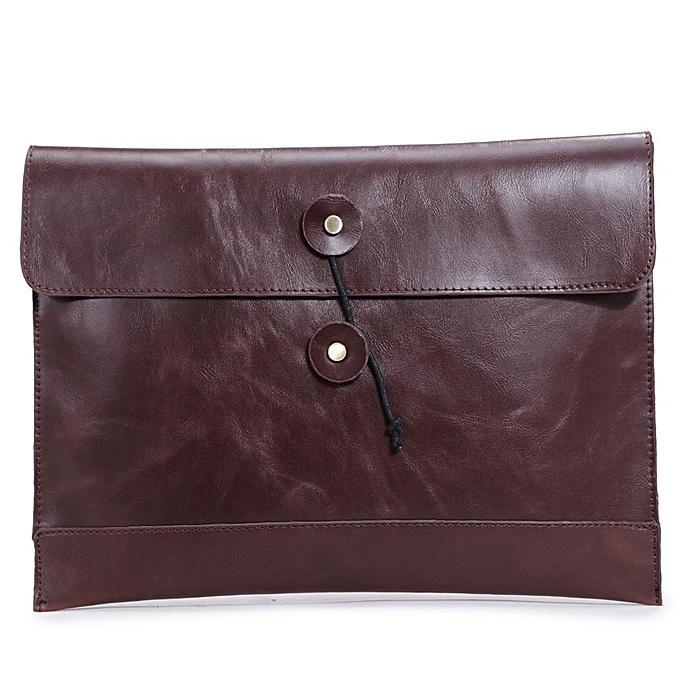 Other 2016 mode Hommes handsac  cuir Hommes briefcase Décontracté Hasp envelope sac Affaires Hommes messenger sacs Hommes voyage sacs6920(marron) à prix pas cher