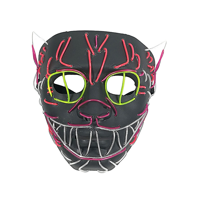 Generic Halloween  Mask LED Masks Glow Scary Mask Light Up Cosplay Mask à prix pas cher