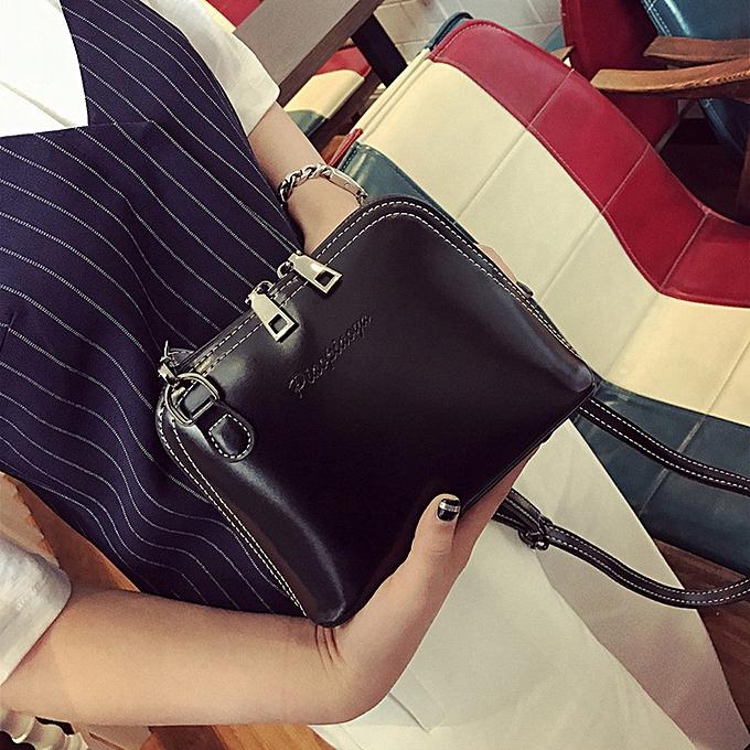 Siketu femmes Solid Fashion Handbag Shoulder Bag Tote Ladies Purse BK- noir à prix pas cher