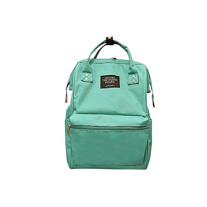 Generic Unisex Solid sac à dos School voyage sac Double Shoulder sac Zipper sac à prix pas cher