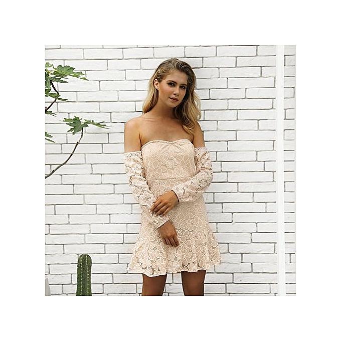 AFankara Beige Novelty femmes Mini Dresses à prix pas cher