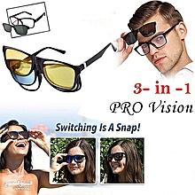 65922e28071f08 Pro Vision-Lunettes Pratiques Magnétiques 3 en 1 (Lunettes Soleil + Lunettes  Nuit +