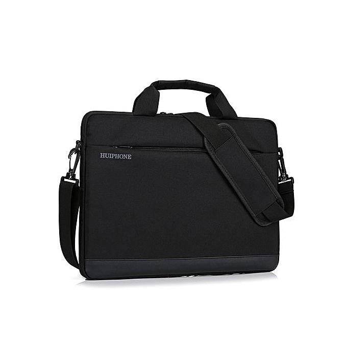 Fashion 14 inch Men's Business Laptop Bag Lady Shoulder Notebook Bag-noir à prix pas cher