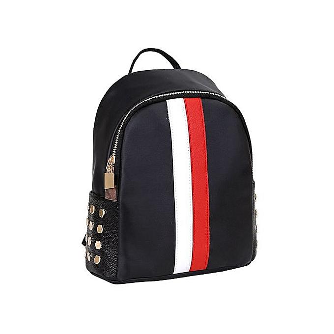 Generic femmes Girls Preppy Rivet Shoulder Booksacs School voyage sac à dos sac à prix pas cher