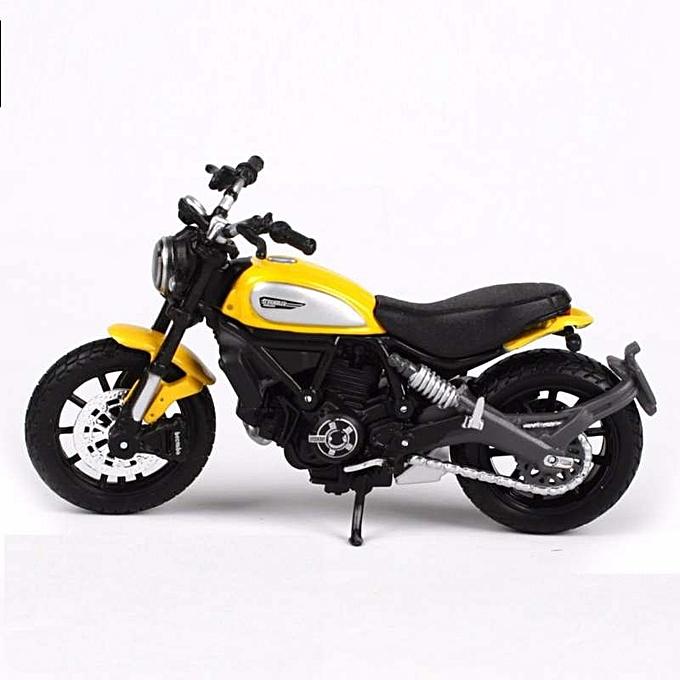 OEM RefinedMaisto 1 18 Ducati Scrambler jaune Die-casts model bike Collection à prix pas cher