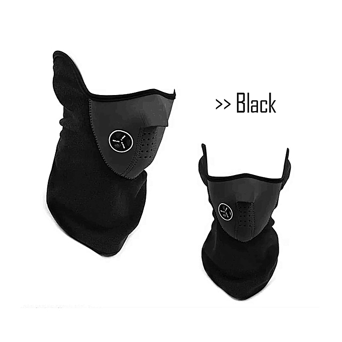 Autre 1PCS New Motorcycle helmet Half Face Mask Cover Cycling Riding Snowboard Ski Outdoor Sports Windproof Warm Winter Neck Face Mask( noir) à prix pas cher