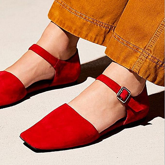 mode (Xiuxingzi) Wohommes chaussures Square Toe Flats Ankle les bretelles Sandals Décontracté mode Single chaussures à prix pas cher
