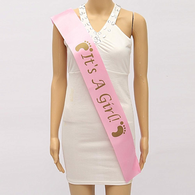 UNIVERSAL   SHOWER PARTY Multi-Style Satin Sash Party Girls Night Party Fun rose à prix pas cher