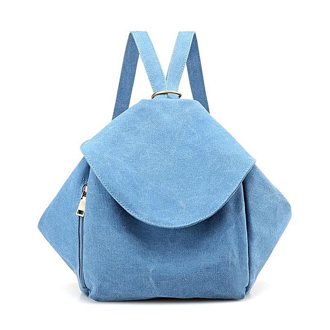 mode femmes Multifunction toile sac à dos Vintage Shoulder sacs Students School sac à dos  bleu à prix pas cher
