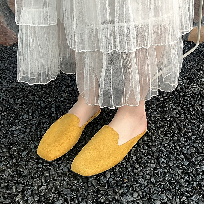Fashion Hiamok Wohommes Fashionable Casual Comfortable Non-slip Low Heel Slippers chaussures à prix pas cher
