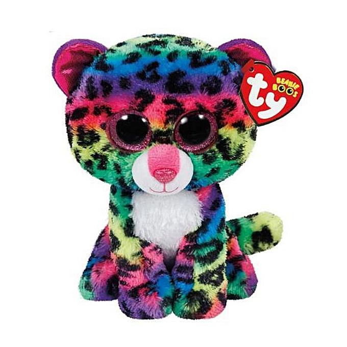 Autre Ty Beanie Boos Elephant and Monkey Plush Doll Toys for Girl Rabbit Fox Cute Animal Owl Unicorn Cat Ladybug 6  15cm(Couleur leopard) à prix pas cher
