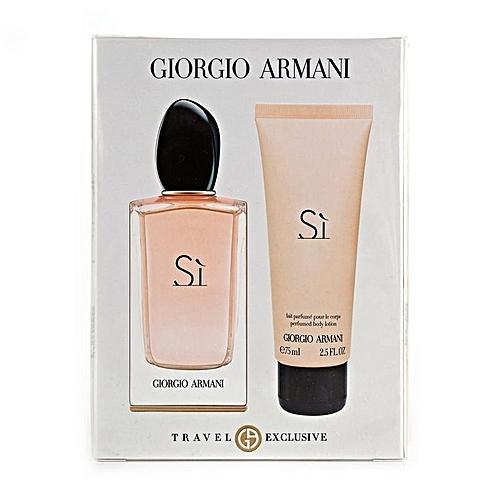 Giorgio Armani Coffret SI Eau de Parfum 50 ml + Lait Parfumé pour le ... d2ee5c962d8