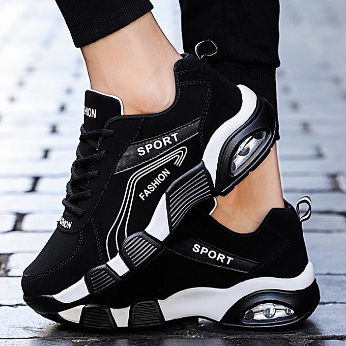 Other nouveau mode respirant Lace Sports chaussures Hommes's Cushion chaussures  -noir blanc à prix pas cher