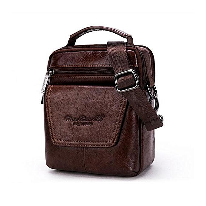 UNIVERSAL Leather casual hommes shoulder bag Mini Messenger bag summer leather backpack multi-function fashion bag leather à prix pas cher