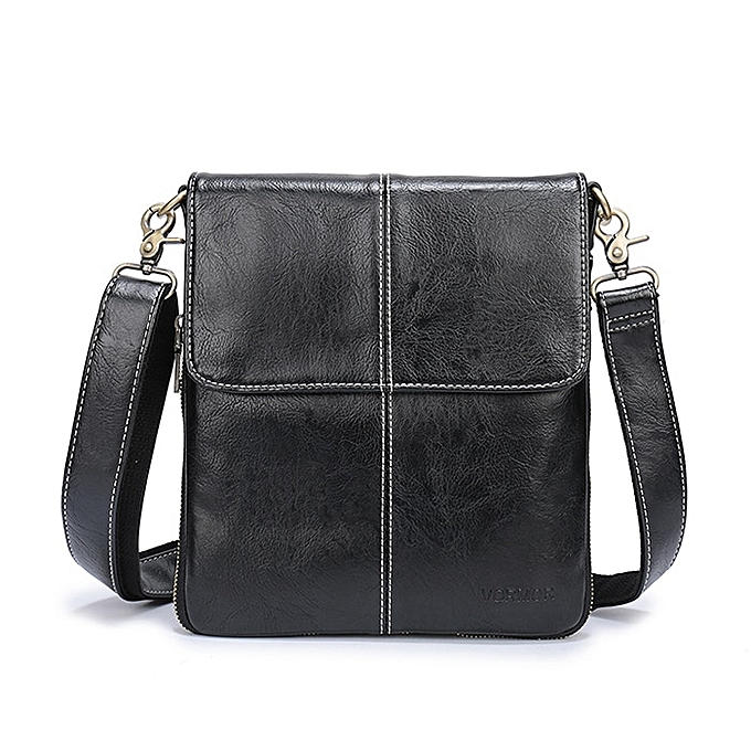 Other VORMOR Leather Men Bag Fashion Leather Crossbody Bag Shoulder Men Messenger Bags Small Casual Designer Handbags Man Bags(noir) à prix pas cher