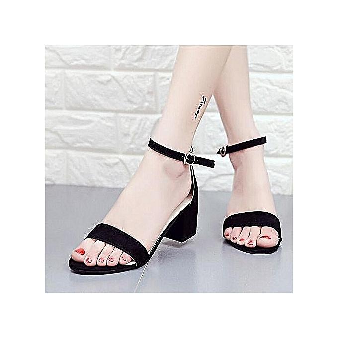 Fashion Fashion Wohommes Class High Heels Sandals - noir à prix pas cher    Jumia Maroc