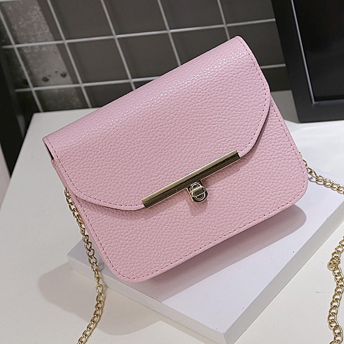Siketu mode femmes bandoulière sac Coin sac Phone sac Handsac Messenger sac rose-rose à prix pas cher