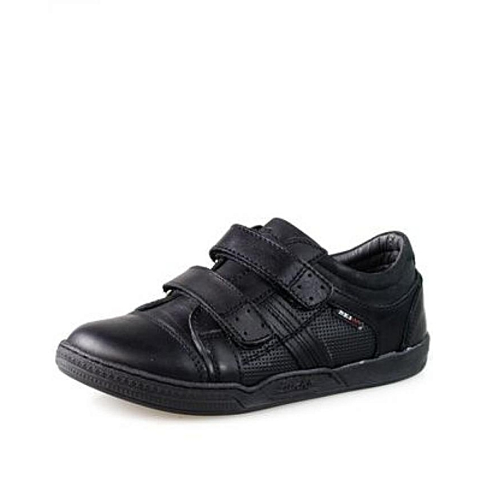 308c6e7d3d4b8 MAGAZTII Chaussures garçon en cuir - Noir. à prix pas cher