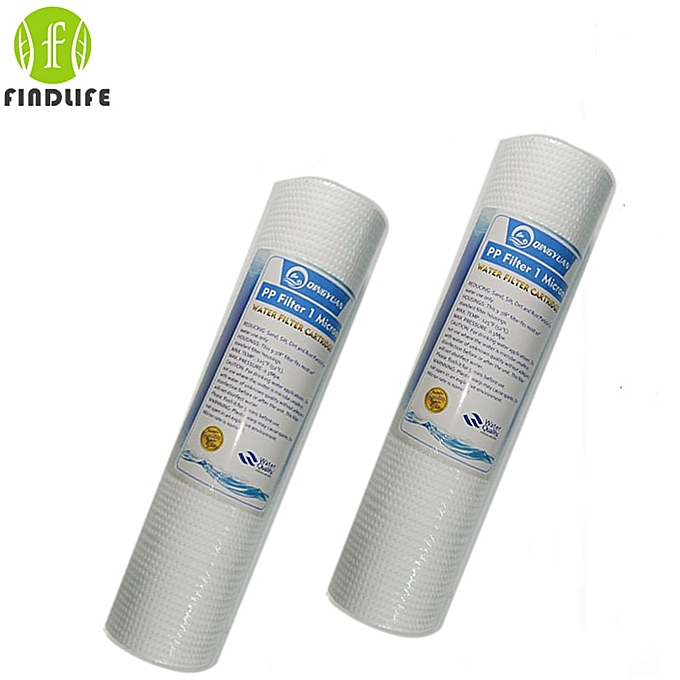 Other 2 Pces 10 INCH 1 MICRON PPF SEDIMENT WATER FILTER CARTRIDGE Water Purifier Front Filter Cartridge Aquarium FOR REVERSE OSMOSIS WAAAB à prix pas cher