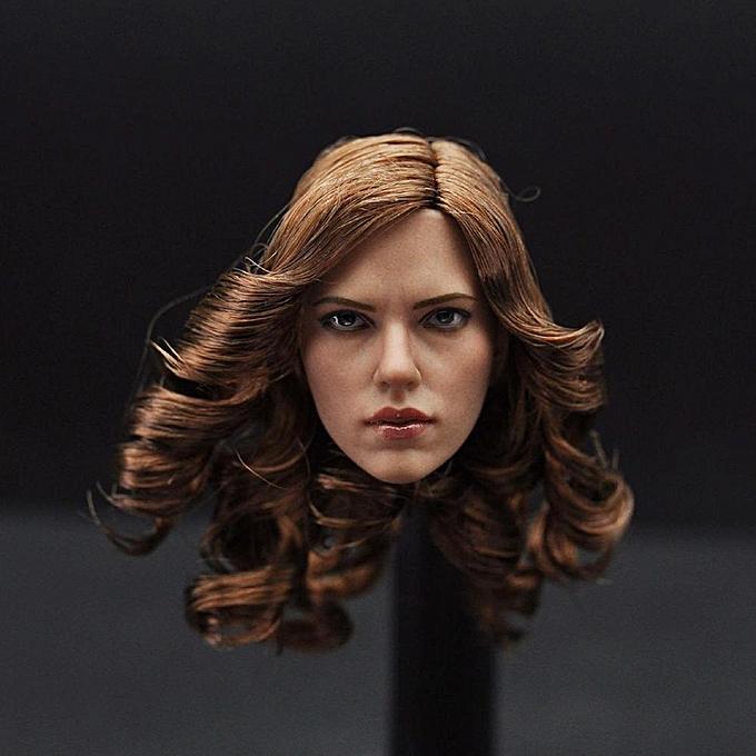 Autre Poplikdfr Tête de beauté à l'échelle 1 6 Sculpture Belle tête sculptée Model Fit 12 & quot;Figurine articulée féminine de style  tête de Julie sculptée à prix pas cher