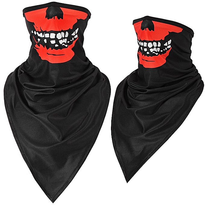 Autre Halloween Scarf Mask Summer Motorcycle Face Shield Skull Ghost Windproof Sun Mask Balaclava Bicycle Bike Neck Warmer Ice Silk( 204HS Ice silk) à prix pas cher