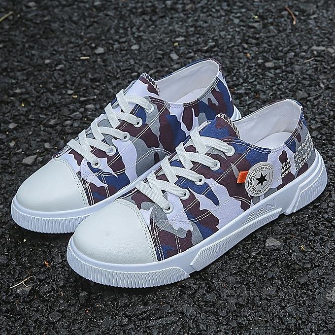 Autre Men Camouflage Cloth baskets Canvas chaussures à prix pas cher