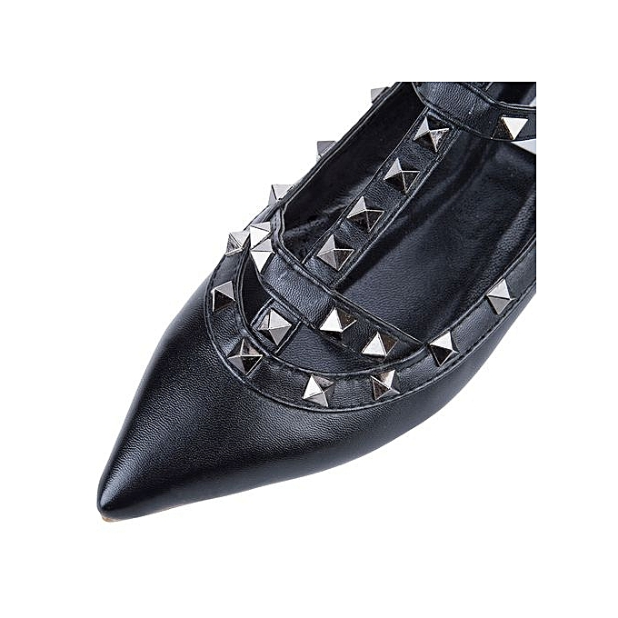 Générique Sexy   Leather Pointed Toe Gladiator Gladiator Toe Flat Shoes-FULL BLACK à prix pas cher  | Jumia Maroc 064238