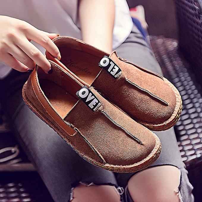 mode Xiuxingzi_Ladies Peas chaussures Lazy chaussures Décontracté chaussures femmes Sandals été Slip chaussures BW 40 à prix pas cher