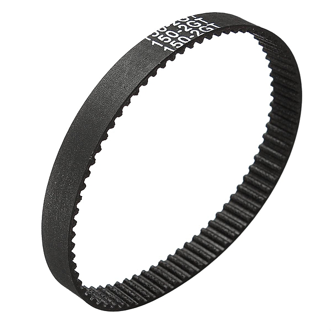 UNIVERSAL 12PCS GT2 Timing Belt Annular Loop Rubber 6mm Width 2mm Pitch Close End 150-2GT noir à prix pas cher