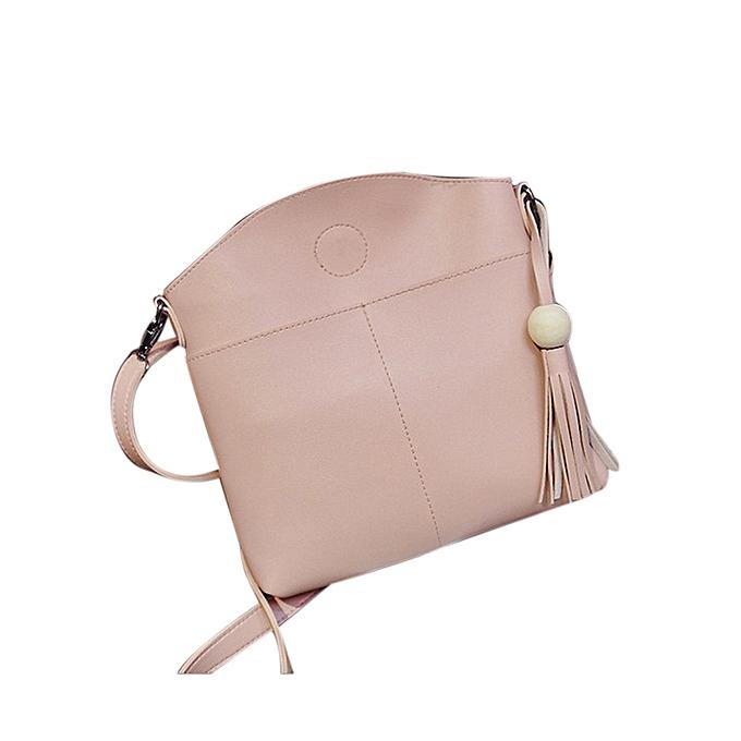 Siketu Tassel femmes sac cuir Handsacs Cross Body Shoulder sacs Messenger Handsac PK-rose à prix pas cher