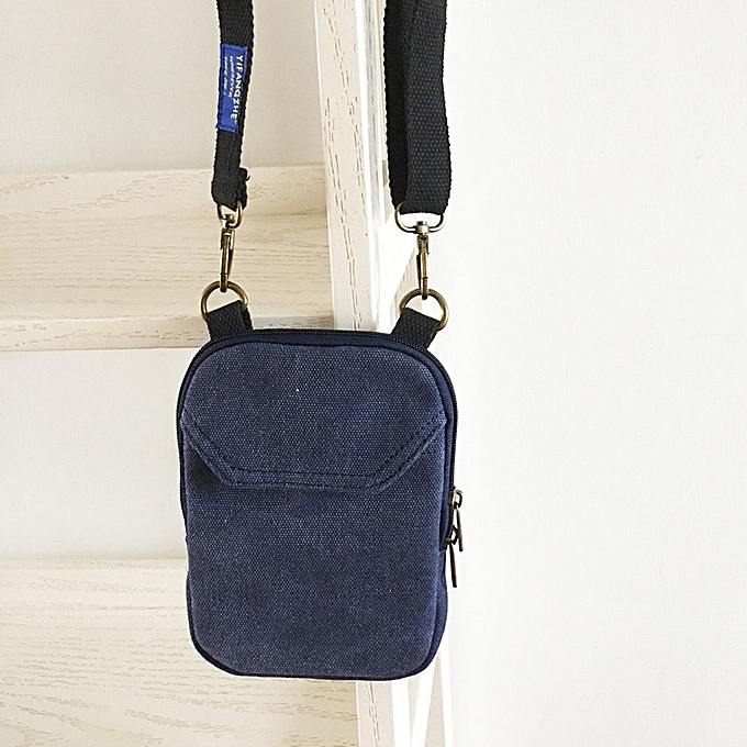 Other YIFANGZHE bandoulière Cell Phone sac, mode petit Storage Phone Pouch Messenger Cross body sac with Shoulder Strap for Hommes femmes(Dark bleu( toile)) à prix pas cher
