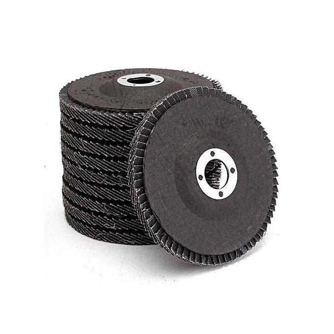 UNIVERSAL 10Pcs 4''100mm 40-120 Grit Angle Grinder Flap Sanding Disc Grinding Wheels New 60 à prix pas cher