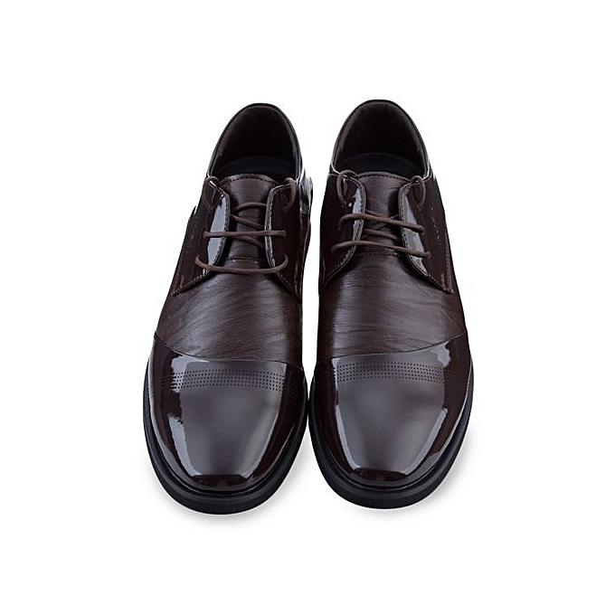 Générique Male Pure Color Pointed Business Leather Leather Business Shoes à prix pas cher  | Jumia Maroc 328359