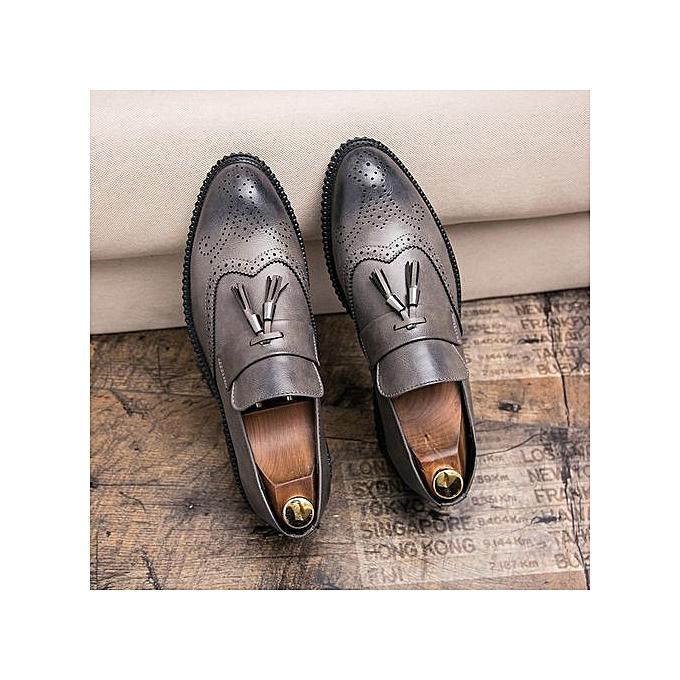 Fashion Genuine Genuine Fashion Leather   Formal Shoes British Sytle Loafers Slip-On à prix pas cher  | Jumia Maroc 600be0