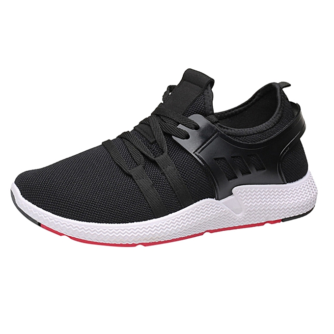 Fashion Men's Fashion Casual Lace-Up Lightweight Breathable Running Sport chaussures baskets- blanc à prix pas cher    Jumia Maroc