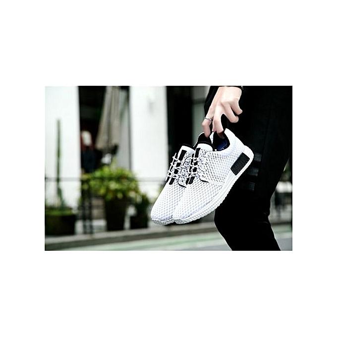 HT   Breathable Sport Shoes Outdoor Running Jogging Shoes | -White à prix pas cher  | Shoes Jumia Maroc b7962b