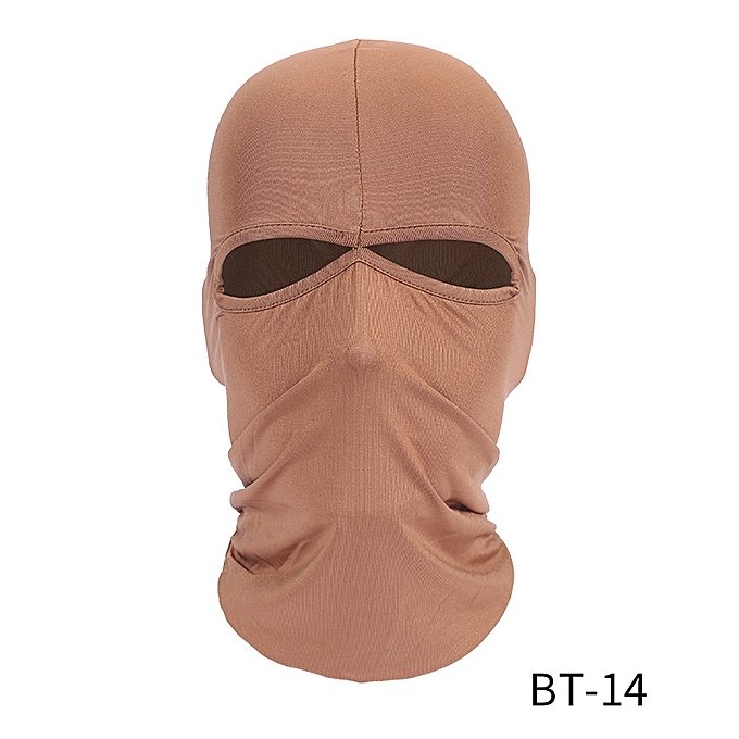 Autre Motorcycle Face Mask Winter Warm Ski Board Windproof Cap Outdoor Sports Neck Face Mask Police Cycling Balaclavas( Beige) à prix pas cher