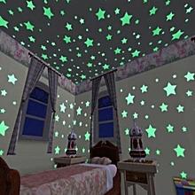 Etoiles Decoratives Lueur Fluorescente, 100 Pcs