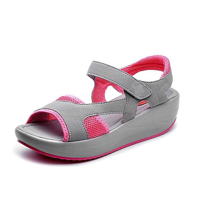 Fashion femmes Casual Wedge Sandals Breathable Rocker Sole chaussures à prix pas cher