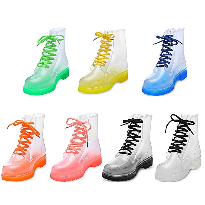 Fashion Trendy WoHommes  Transparent Candy Boots Color Skidproof Mid-high Rain Boots Candy à prix pas cher  | Black Friday 2018 | Jumia Maroc 714a82