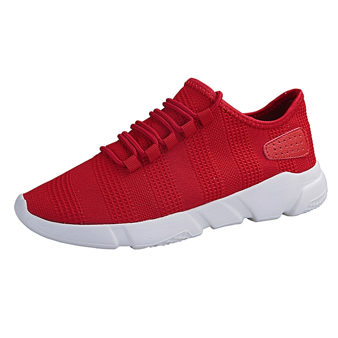 Fashion Hiamok Men's Fashion Beathable Mesh chaussures Casual baskets Lace-up Sport chaussures à prix pas cher