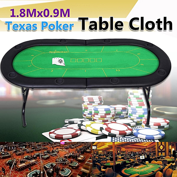 UNIVERSAL 180X90cm 10 Player Folding Felt rougeary Texas Holdem Poker Table Board Cloth Mat à prix pas cher