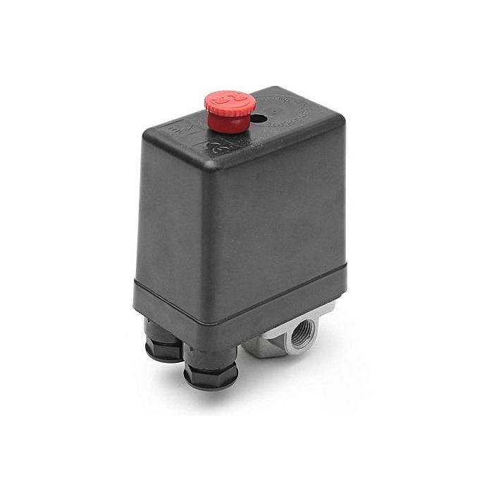UNIVERSAL 1 4  BSP Air Compressor Pressure Switch 4 Port Single Phase + Safety Valve Gauge à prix pas cher