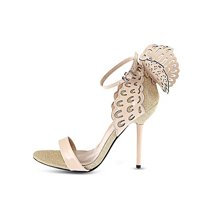GUMANDUO GUMANDUO Sexy Butterfly Wings EmbellishHommes EmbellishHommes EmbellishHommes t Ankle Strap   Thin High Heel Sandals à prix pas cher  | Jumia Maroc e18313