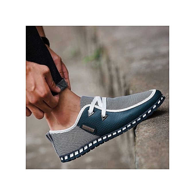 mode mode nouveau Man Autumn chaussures Décontracté chaussures Mixed Couleurs Flats respirant chaussures - vert -CN Taille à prix pas cher