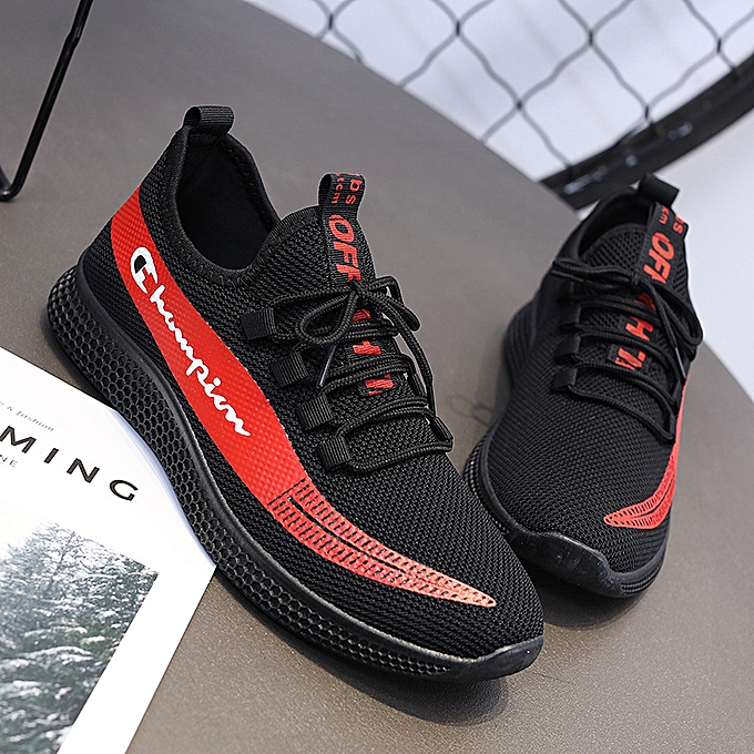 Other New Stylish New Men's Summer Tide chaussures Sport Mreathable Mesh Students Sasual Running Flying Woven Letter-rouge à prix pas cher