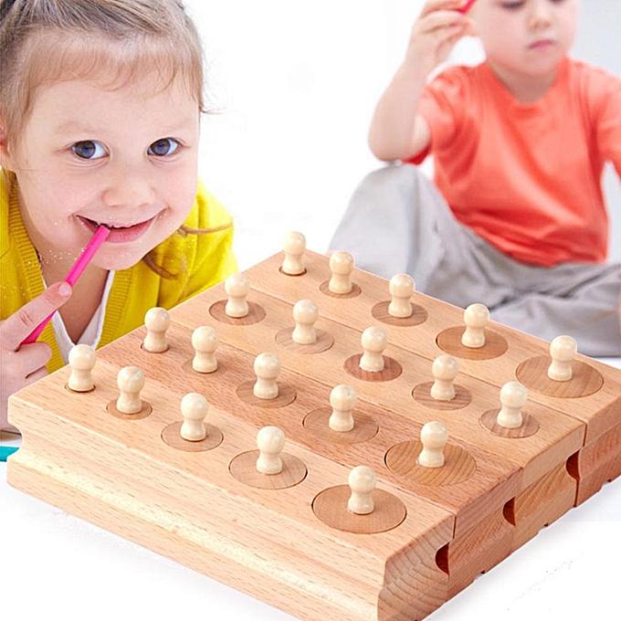 Autre Sunborui Jouets En Bois Montessori Éducative Cylindre Douille Blocs Jouet Bébé Jouets à prix pas cher